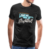 Surf Hard - Men's Premium T-Shirt - charcoal gray