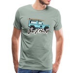 Surf Hard - Men's Premium T-Shirt - steel green