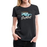 Surf Hard - Women's Premium T-Shirt - black