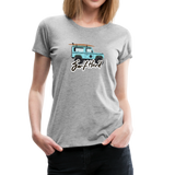 Surf Hard - Women's Premium T-Shirt - heather gray