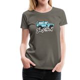 Surf Hard - Women's Premium T-Shirt - asphalt gray