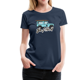 Surf Hard - Women's Premium T-Shirt - navy