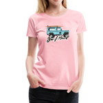 Surf Hard - Women's Premium T-Shirt - pink