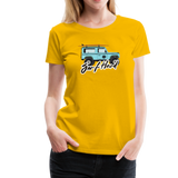 Surf Hard - Women's Premium T-Shirt - sun yellow
