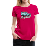 Surf Hard - Women's Premium T-Shirt - dark pink