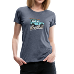 Surf Hard - Women's Premium T-Shirt - heather blue
