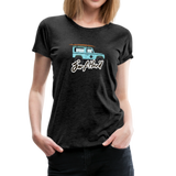 Surf Hard - Women's Premium T-Shirt - charcoal gray