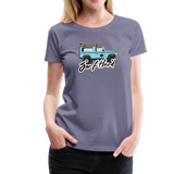 Surf Hard - Women's Premium T-Shirt - washed violet