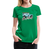 Surf Hard - Women's Premium T-Shirt - kelly green