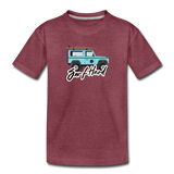 Surf Hard - Kids' Premium T-Shirt - heather burgundy