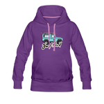 Surf Hard - Women's Premium Hoodie - purple