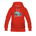Surf Hard - Women's Premium Hoodie - red