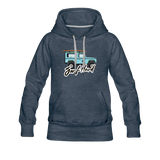 Surf Hard - Women's Premium Hoodie - heather denim