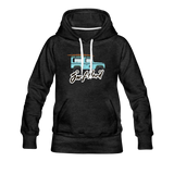 Surf Hard - Women's Premium Hoodie - charcoal gray