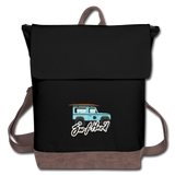 Surf Hard - Canvas Backpack - black/brown