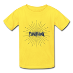 Sunshine -  Youth Tagless T-Shirt - yellow