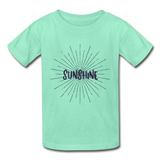 Sunshine -  Youth Tagless T-Shirt - deep mint