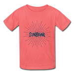 Sunshine -  Youth Tagless T-Shirt - coral