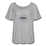 Sunshine - Women's Flowy T-Shirt - heather gray