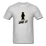 Send It - Tagless T-Shirt - heather gray
