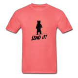 Send It - Tagless T-Shirt - coral