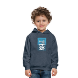 Pow Day - Kids' Premium Hoodie - heather denim