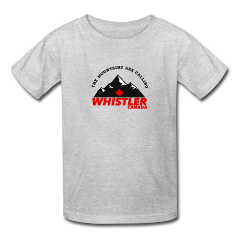 Whistler Canada -  Youth Tagless T-Shirt - heather gray