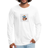 Snow Platypus - Men's Premium Long Sleeve T-Shirt - white