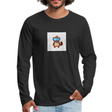 Snow Platypus - Men's Premium Long Sleeve T-Shirt - black