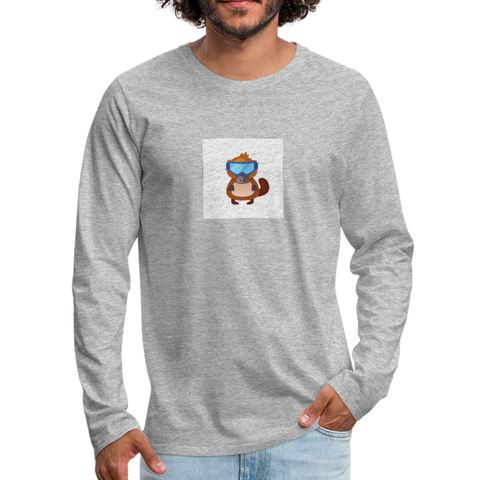 Snow Platypus - Men's Premium Long Sleeve T-Shirt - heather gray