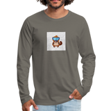 Snow Platypus - Men's Premium Long Sleeve T-Shirt - asphalt gray