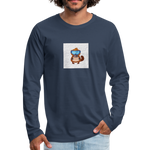 Snow Platypus - Men's Premium Long Sleeve T-Shirt - navy