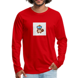 Snow Platypus - Men's Premium Long Sleeve T-Shirt - red