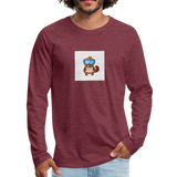 Snow Platypus - Men's Premium Long Sleeve T-Shirt - heather burgundy