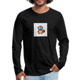Snow Platypus - Men's Premium Long Sleeve T-Shirt - charcoal gray