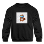 Snow Platypus - Kids' Crewneck Sweatshirt - black