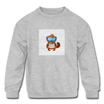Snow Platypus - Kids' Crewneck Sweatshirt - heather gray