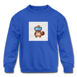 Snow Platypus - Kids' Crewneck Sweatshirt - royal blue