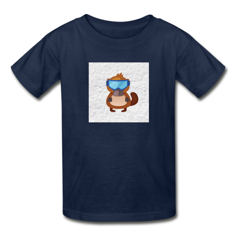 Snow Platypus - Youth Tagless T-Shirt - navy