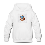 Snow Platypus -  Heavy Blend Youth Hoodie - white