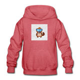 Snow Platypus -  Heavy Blend Youth Hoodie - heather red