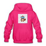 Snow Platypus -  Heavy Blend Youth Hoodie - fuchsia