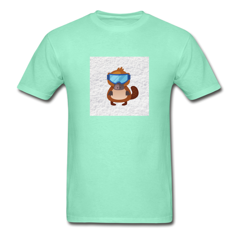 Snow Platypus -  Adult Tagless T-Shirt - deep mint