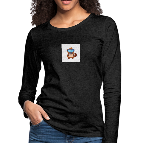 Snow Platypus - Women's Premium Long Sleeve T-Shirt - charcoal gray