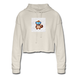 Snow Platypus - Women's Cropped Hoodie - dust