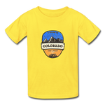 Colorado Is Calling -  Youth Tagless T-Shirt - yellow