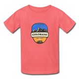 Colorado Is Calling -  Youth Tagless T-Shirt - coral