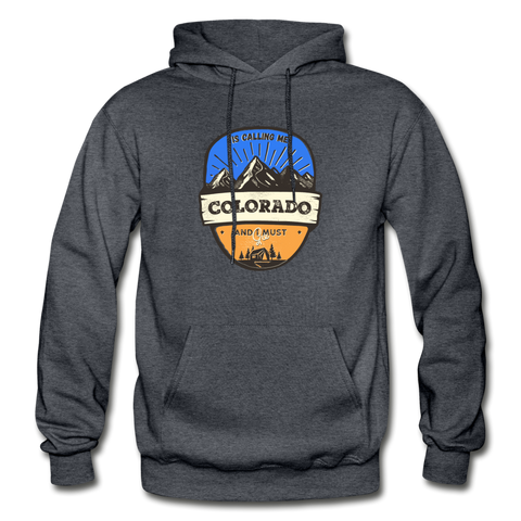 Colorado Is Calling - Heavy Blend Adult Hoodie - charcoal gray