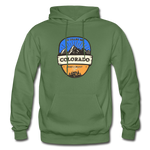 Colorado Is Calling - Heavy Blend Adult Hoodie - military green