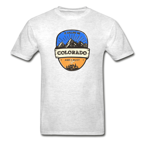 Colorado Is Calling -  Adult Tagless T-Shirt - light heather gray